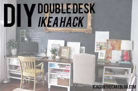 Desk Used Wood Desks For Sale Build A Wood Plank Desktop For by Diy 12 Foot Long Double Desk Icing On The Cake Blog