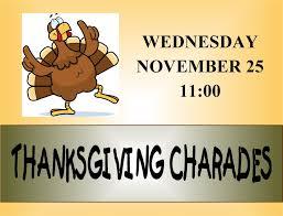 harman senior recreation center thanksgiving charades