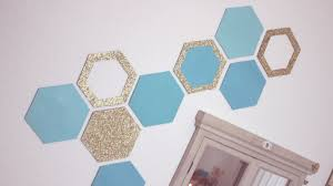 diy honeycomb wall decor easy recycling home decor idea youtube