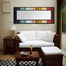 Wood Wall Living Room Gradient Reflection Wood Wall Art Leaner Mirror U2013 Scrap Wood Designs