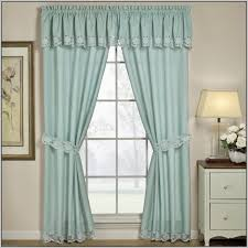 Priscilla Curtains With Attached Valance Lace Curtains With Attached Valance At Curtain Decoration