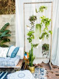 Living Room Privacy Curtains How To Make A Diy Privacy Plant Wall Hgtv