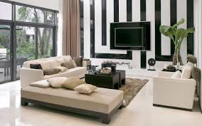 Wall Mounted Tv Ideas by Awesome Wall Mounted Tv Idea In Striped Black And White Idea