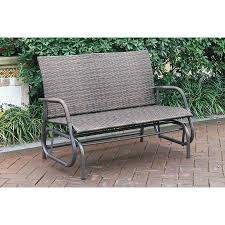Patio Glider Bench Furniture Outdoor Person Loveseat Patio Lounge Glider Bench Sling