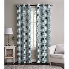 Gray And Teal Curtains 2 Pack Energy Saving Hotel Quality Grommet