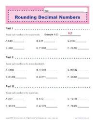 rounding decimal numbers decimal place value worksheets for 5th