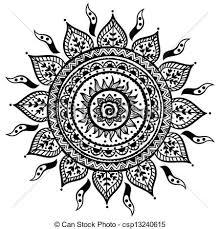 beautiful indian ornament beautiful ornament vector clip