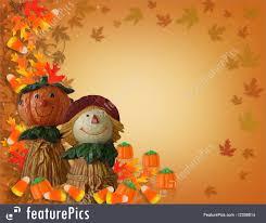 pumpkins border clipart halloween halloween border pumpkin scarecrow stock illustration