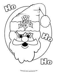 ho ho ho santa free coloring pages kids printable colouring