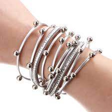 design charm bracelet images Fashion bead multiple layers charm bracelet for women men leather jpg