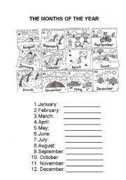 months of the year worksheet by juditpalau