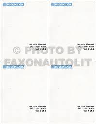 2007 2011 honda cr v repair shop manual original 2 volume set