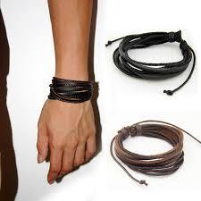 leather bracelet man images Leather bracelets bangles for men and women lebanon jpg