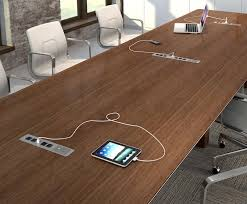 table l with usb port and outlet conference table power module act cove 4 2 usb 1 open in desk with