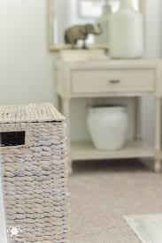 cute laundry hamper one room challenge classic blue and white guest bedroom reveal