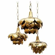 Lotus Pendant Light Pendant Lights Regency Brass Lotus Pendant