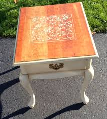 cherry end tables queen anne painted and stenciled queen anne cherry end table creations by