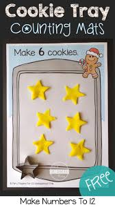 free cookie tray counting mats