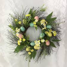 egg wreath home accents 22 in easter egg wreath on twig base 2405030hd the