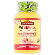 nature made vitamelts strawberry lemonade hair skin and nails
