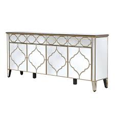 venetian french gold patterned mirrored sideboard cabinet