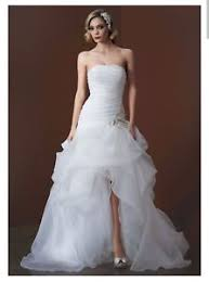 high low wedding dress organza and tulle high low wedding gown with beaded flower
