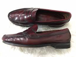gh bass weejuns burgundy penny loafer leather dress casual shoes