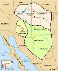 4 american cultures map mogollon culture