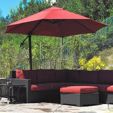 Patio Umbrellas Offset Treasure Garden 11 Ft Cantilever Offset Sunbrella Patio Umbrella