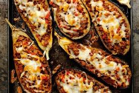 cuisine aubergines stein s stuffed aubergines with manchego cheese recipe