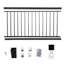 aluminum deck railing systems deck u0026 porch railings the home