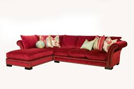 Roll Arm Chaise Furniture Classic And Traditional Style Velvet Sectional Sofa For