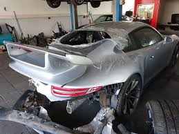 crashed for sale wrecked porsche 991 gt3 on sale for 49 900 euros