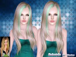 hair color to download for sims 3 skysims hair 147