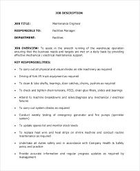 Sample Maintenance Resume by Maintenance Engineer Job Description Maintenance Worker Resume