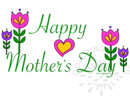 happy mother u0027s day card clipart coloring page