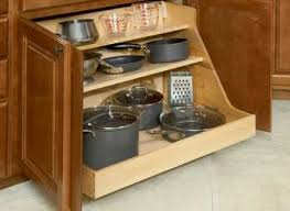 Hanging Pot Rack In Cabinet by Kitchen Cabinet Pantry Pan And Pot Lid Organizer Rack Holder Buy