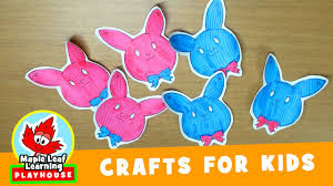Easter Bunny Decoration Craft by Easter Bunny Decoration Craft For Kids Maple Leaf Learning