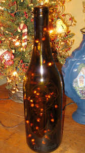Wine Bottles With Lights Becky U0027s Lighted Bottles With Special Sayings How To Make A