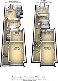 floor plan in 3d 5 bedroom semi detached house for sale in forest glade london