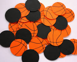 Basketball Themed Baby Shower Decorations Basketball Confetti Basketball Birthday Decorations