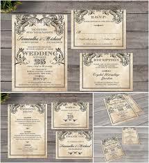 vintage style wedding invitations vintage wedding invitation style free