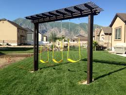 Garden Arbor Swing Pergola Swing Set I Built For My Kids Kids Pinterest Pergola
