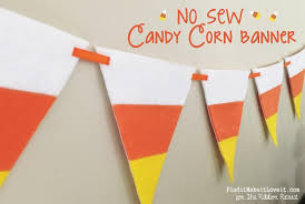 paper ribbon sew candy corn banner the ribbon retreat