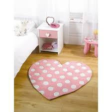 Girls Pink Rug Childrens Kids Soft Rug In Pastel Pink Colour Heart Design Carpet
