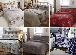 Flannelette Single Duvet Cover 100 Brushed Cotton Flannelette Duvet Quilt Cover Flannel Bedding