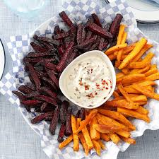 beet and sweet potato fries recipe taste of home