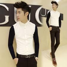 aliexpress com buy 2015 white black casual dress men prom shirts