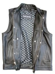 leather vest clean cut mc vest crank u0026 stroker