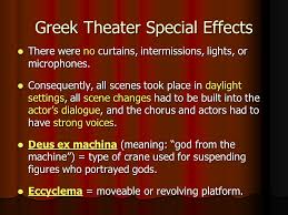 ex machina meaning introduction to early greek theater ppt video online download